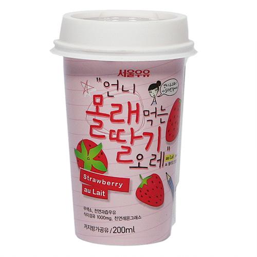 서울 언니 몰래먹는 딸기오레(200ml)