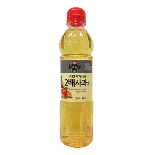 CJ 백설 국내산 사과로만든 2배 사과식초(500ml)