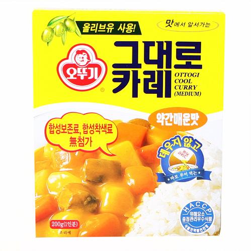 오뚜기 그대로카레 약간매운맛(200g)