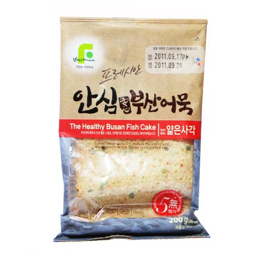 CJ 프레시안 안심부산어묵 얇은사각(200g)