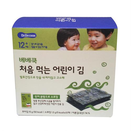 베베쿡 처음 먹는 어린이 김(1.5g*10개입)