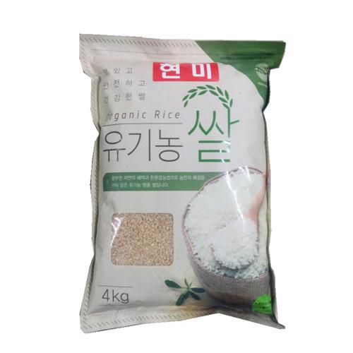 산들내음 유기농 쌀(현미/4kg)