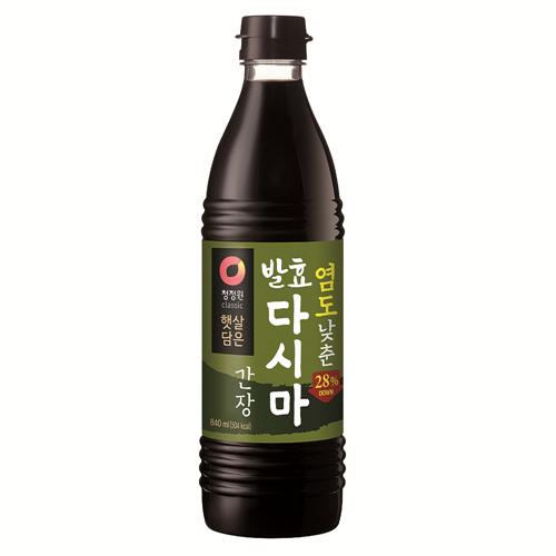 청정원 염도낮춘 발효다시마간장(840㎖)