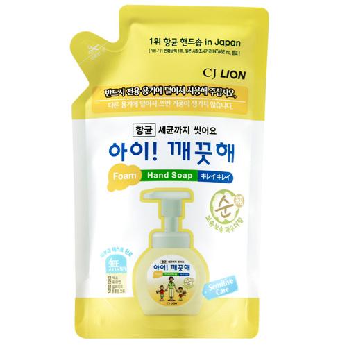 CJ 라이온 아이깨끗해 순 항균 폼 핸드워시 리필(200ml)