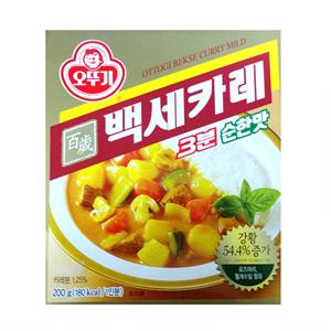 오뚜기 3분 백세카레 순한맛(220g)