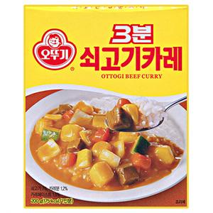 오뚜기 3분 쇠고기 카레(200g)