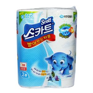 유한 스카티 항균빨아쓰는타올(54매*2R)