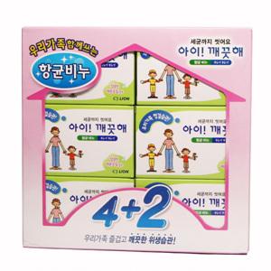 CJ 아이깨끗해 향균비누(4+2입)