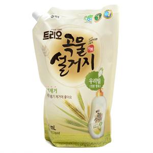 애경 트리오 곡물설거지 우리밀 주방세제R(1.2L)
