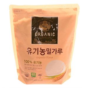 CJ 백설 유기농 밀가루(1kg)