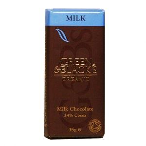 그린앤블랙 유기농 밀크초콜릿(35g)