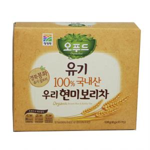 대상 청정원 유기농100% 현미보리차(120g )