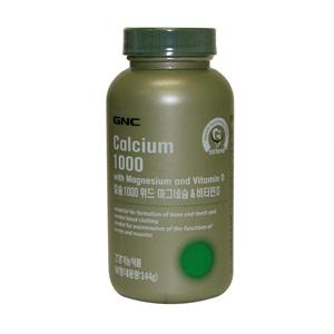 GNC 칼슘1000 위드 마그네슘&비타민D(90정)