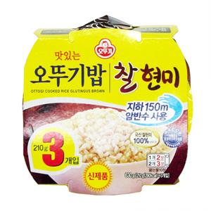 오뚜기 맛있는 밥 찰현미(210g*3입)