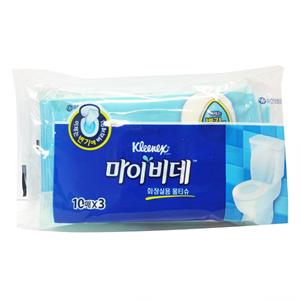 유한 마이비데 화장실용 물티슈(10매*3)