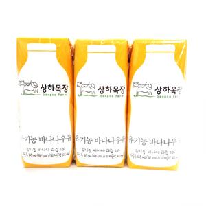 상하 유기 바나나우유 (125ml*3)