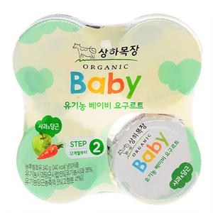 상하목장 유기농 베이비 요구르트 2단계 사과당근(85g*4)