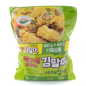 롯데 야채잡채 김말이(400g+400g)