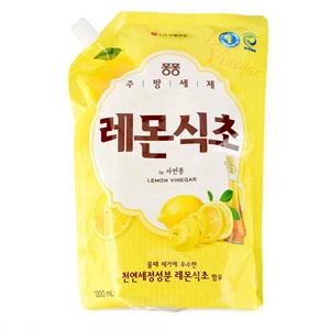 LG생활건강 퐁퐁 구연산&레몬식초 리필(1200ml)