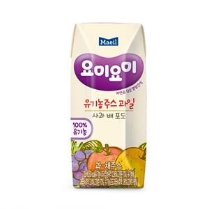 매일 요미요미 유기농주스 사과 배 포도(125ml*3)