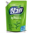 CJ 참그린 녹차 뽀드득 주방세제 리필(1.2kg)