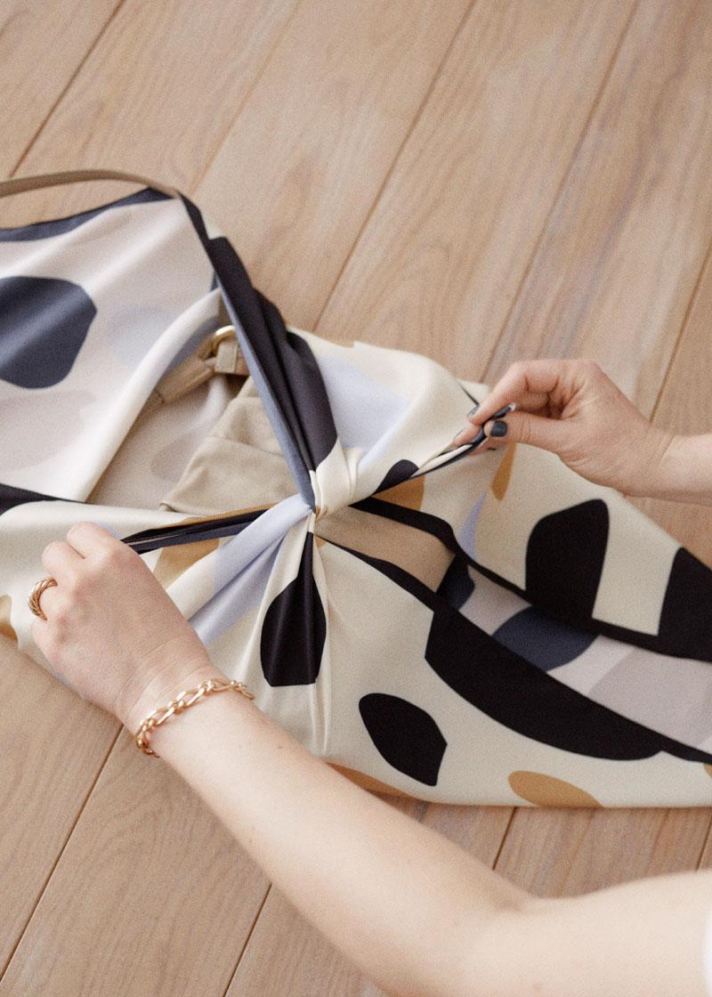 Wardrobe cleanse - Furoshiki style