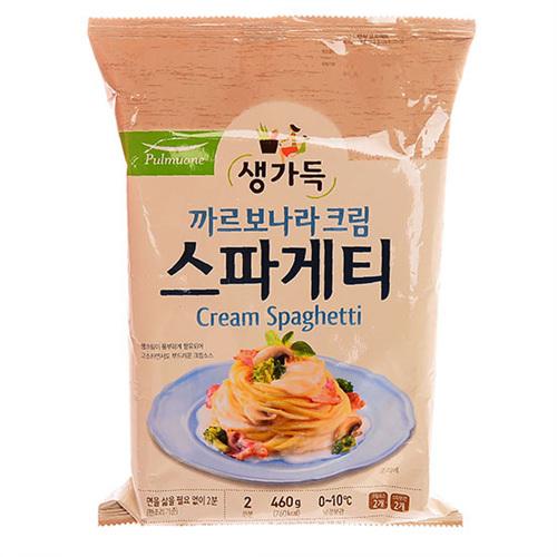풀무원 생가득 까르보나라 크림 스파게티 2인분(460g)