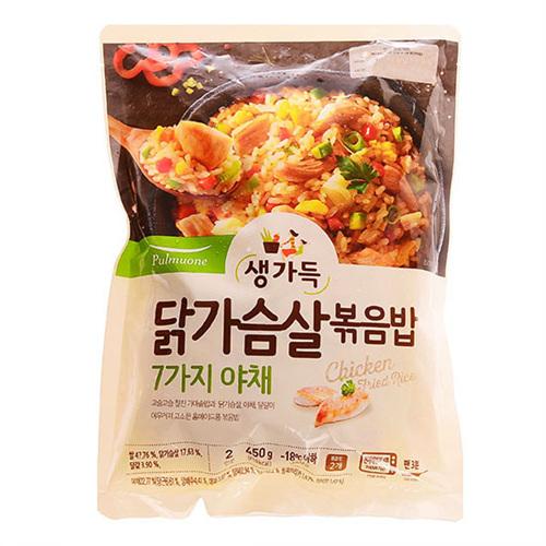 풀무원 7가지야채와 닭가슴살 볶음밥 2인분(450g)