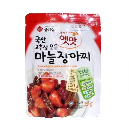 종가집 옛맛 고추장모듬 마늘장아찌(150g)