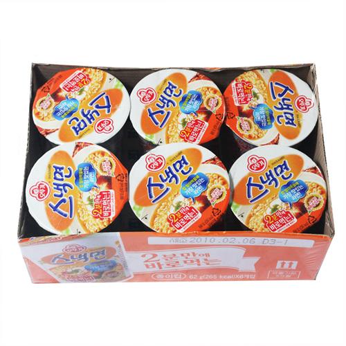 오뚜기 컵 스낵면(62g*6입)