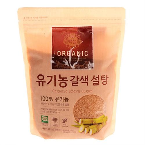 CJ 백설 유기농 갈색설탕(1kg)