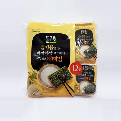 풀무원 들기름 재래김 (12봉)