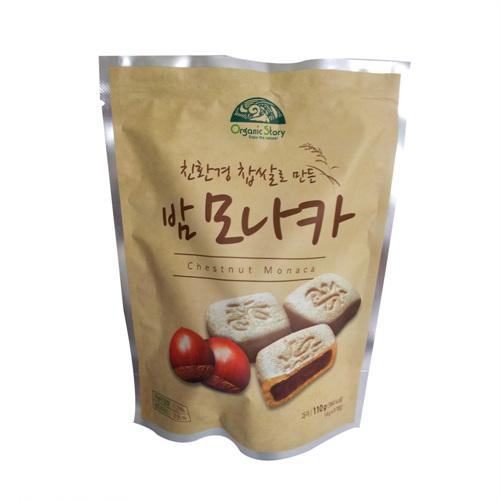 친환경 쌀로 만든 밤모나카(110g)