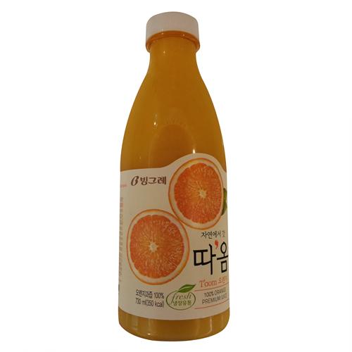 빙그레 따옴 오렌지(730ml)