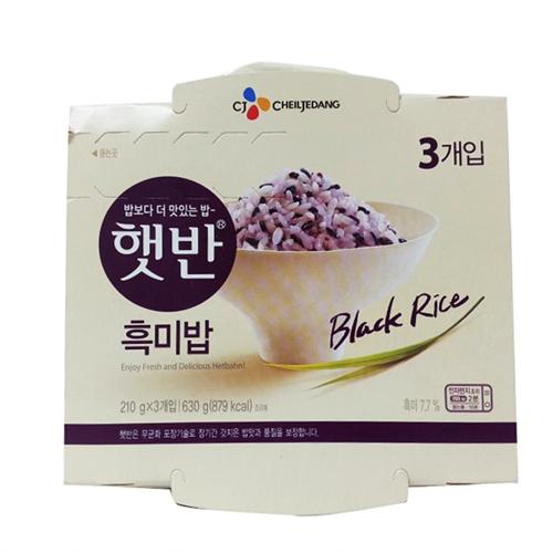 CJ 햇반흑미밥(210g*3ea)