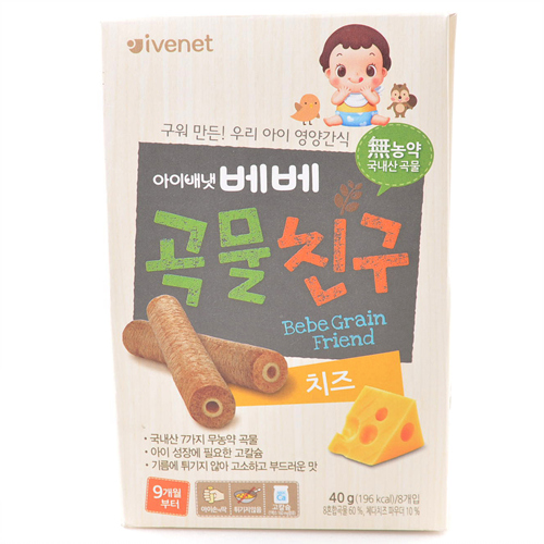 아이배냇 베베곡물친구 치즈(40g)