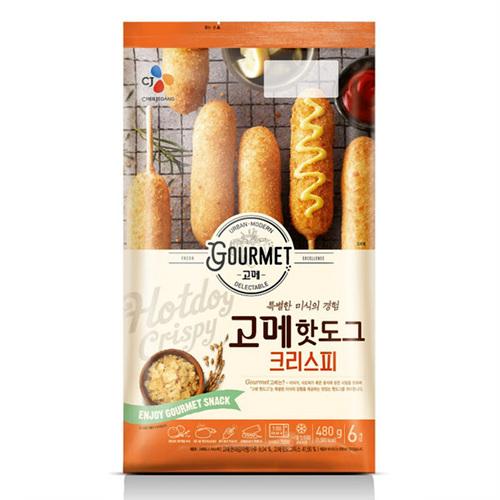 CJ 고메 핫도그 크리스피(480g/80g*6개)