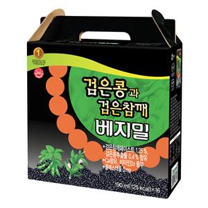 정식품 검은콩과 검은참깨두유(190ml*16)