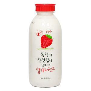 서울 목장의신선함이 살아있는 딸기요구르트(500ml)