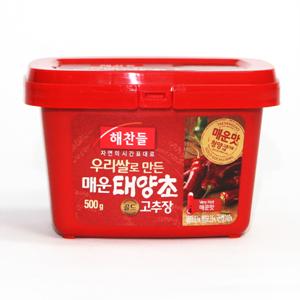 CJ 해찬들 우리쌀로 만든 태양초 매운고추장P(500g)