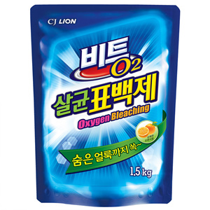 CJ 라이온 비트 O2살균표백제 리필(1.5kg)