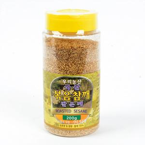 우리농산 국산 볶음참깨(갈은깨/200g)