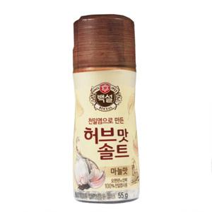 CJ 천일염 허브맛 솔트 마늘맛(55g)