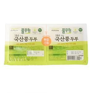 풀무원 국산 부침두부(300g)+국산 찌개두부(300g)
