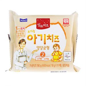 상하 유기농 우리아이 아기치즈 2단계(180g)