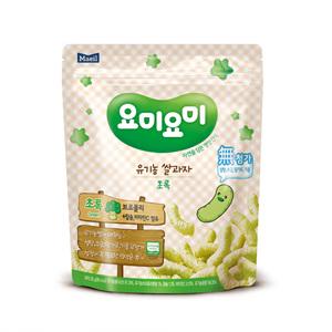 매일 요미요미 유기농 쌀과자 초록 7개월(25g)