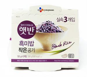 CJ햇반 흑미밥 작은공기 (130*3)