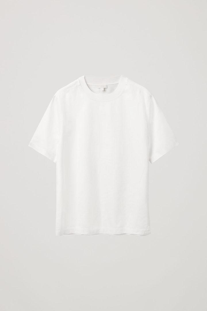 COS 데님 티셔츠의 화이트컬러 Product입니다.