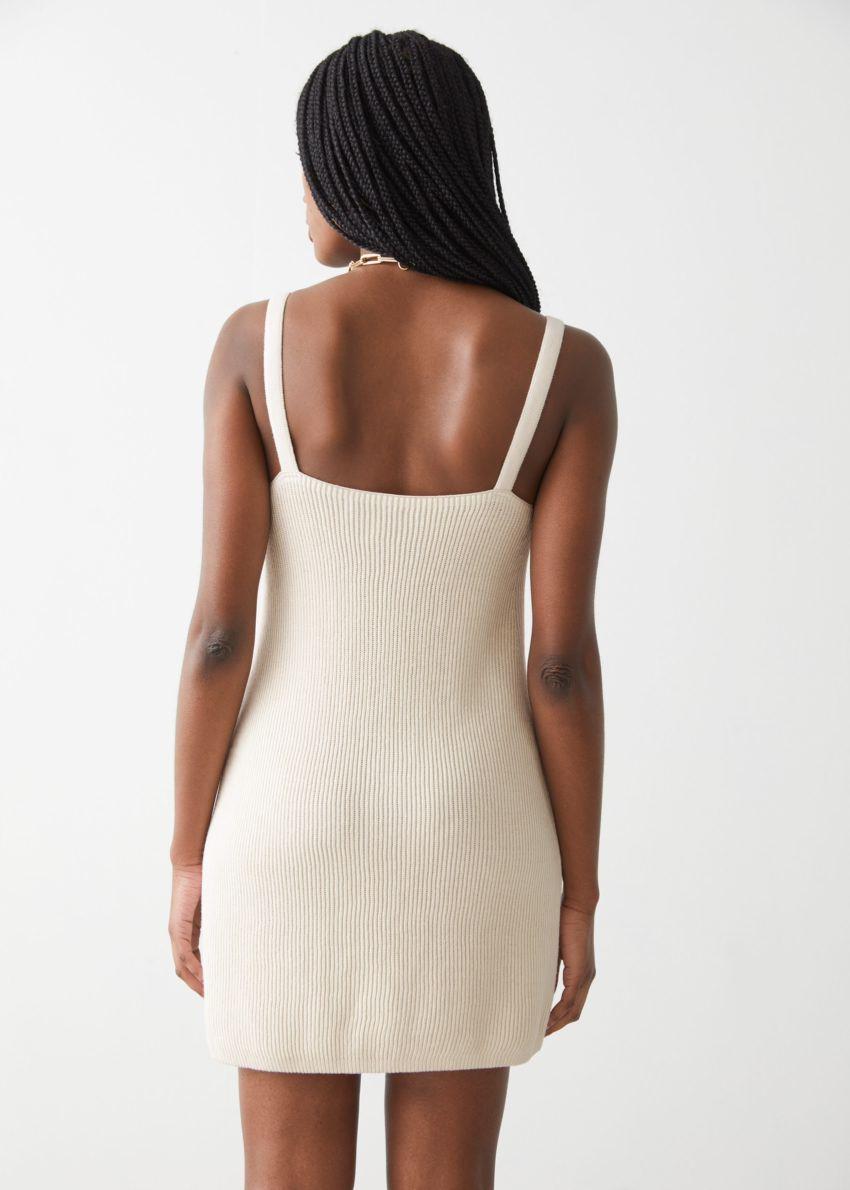 앤아더스토리즈 스트래피 미니 립 드레스의 크림컬러 ECOMLook입니다.