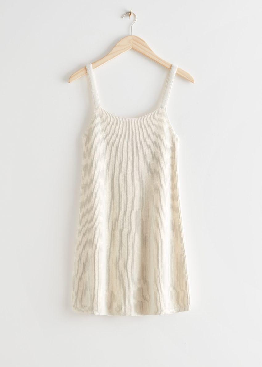 앤아더스토리즈 스트래피 미니 립 드레스의 크림컬러 Product입니다.